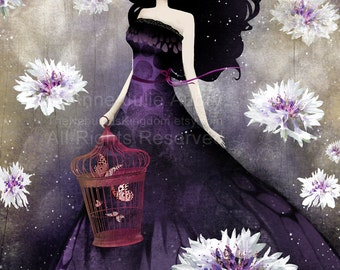 Purple Meadow - Deluxe Edition Print - Whimsical Art