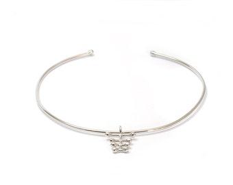 Silver Choker Necklace, Silver Choker Collar, Statement Necklace, Bones Necklace, Silver Bib Necklace, Boho Necklace