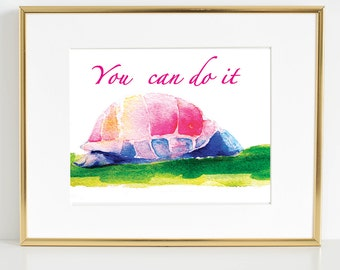Printable Turtle Watercolor
