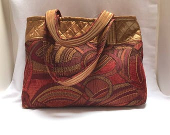 Large Burgundy Handbag