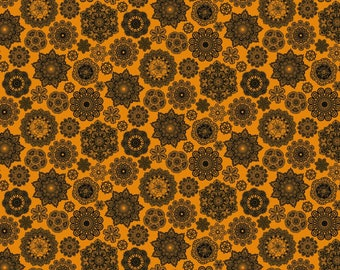 Happy Halloween by Patrick Lose - Doilies Orange - Cotton Woven Fabric