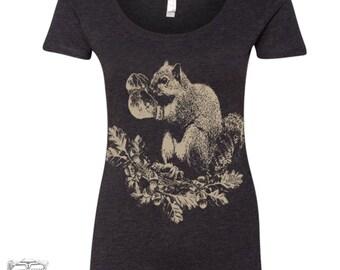 Womens Boxing SQUIRREL TriBlend Scoop Neck Tee - T Shirt S M L XL XXL (+ Colors)