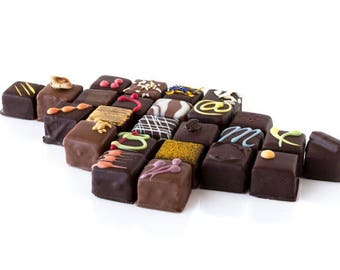 Fine chocolate morsels box, 24 per box, fine chocolate bites, fine chocolate, dark chocolate, milk chocolate, mother's day, mother