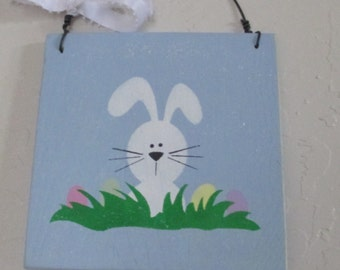 Wooden Easter Bunny Sign - - Easter Sign - Holiday Sign