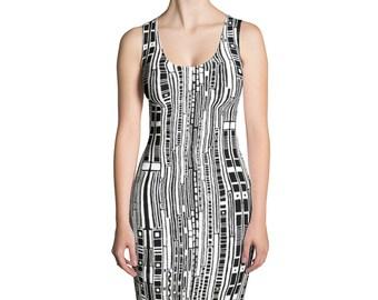 Striped Psychedelic Dress- Hippy Dress- Boho Dress- Womens Dress- Girls Dress- Patterned Dress- Hippie Dress- Festival Dress- Rave Dress