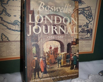 Boswells London  Journal .  1762  -  1763  Book . Yale University Book . First Edition .