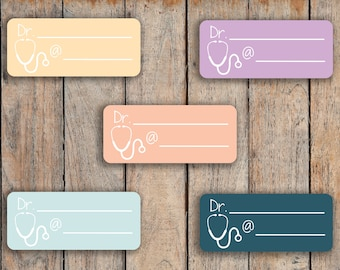 15 Doctor, Dentist, Therapy, Medical Visit, Appointment Label Stickers for 2018 inkWELL Press Planners IWP-Q20