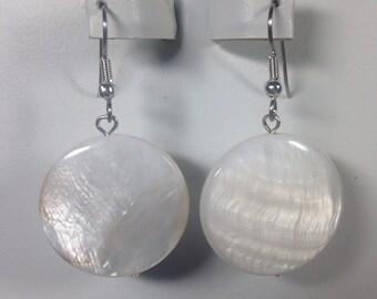 White Shell Earrings -SE010