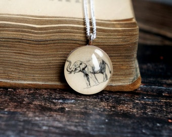Elephant necklace , elephant gift ideas , elephant jewelry , elephant charm