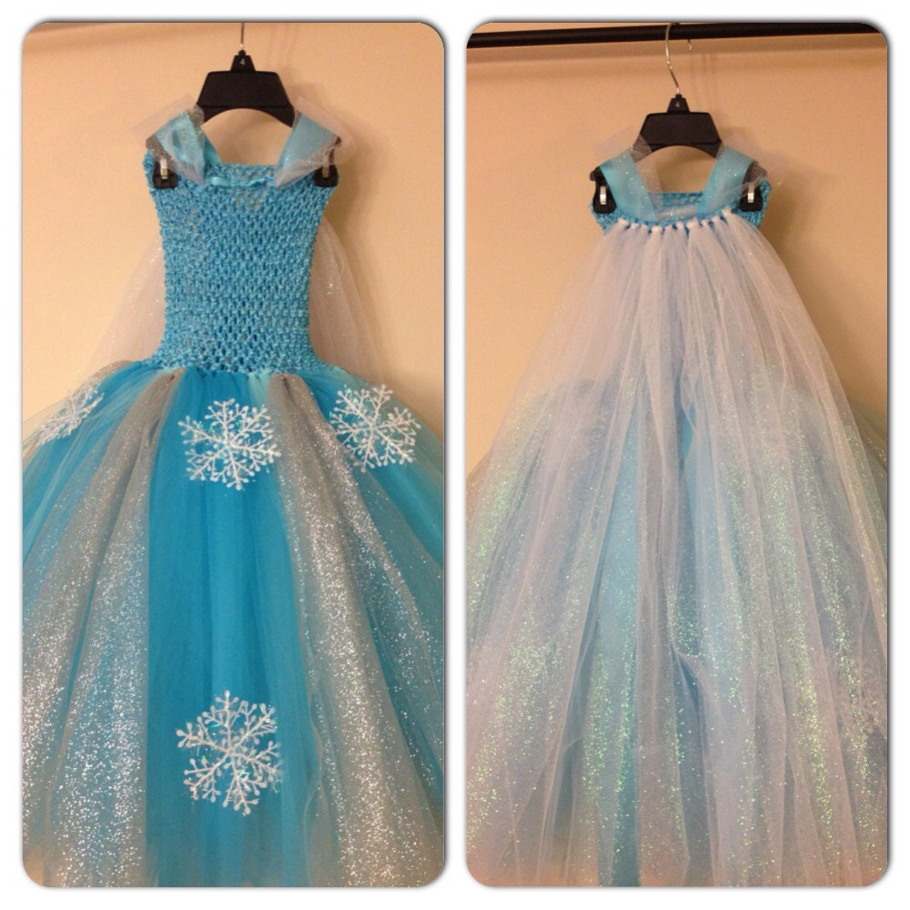 Elsa dress with cape inspired from frozen movie and FREE