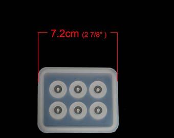 Moule silicone souple Blanc Thème Perles Rondes 15.5mm-
