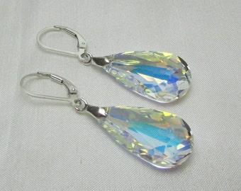 Bridesmaid Jewelry Set of 5 Swarovski Teardrop Bridesmaid Earrings Sterling Silver Crystal Bridal Earrings Wedding Jewelry Bridesmaid Gift