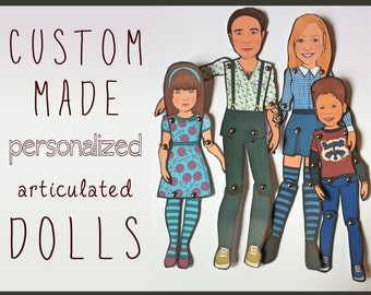 Articulated Paper Doll Kit - Personalized from your photos