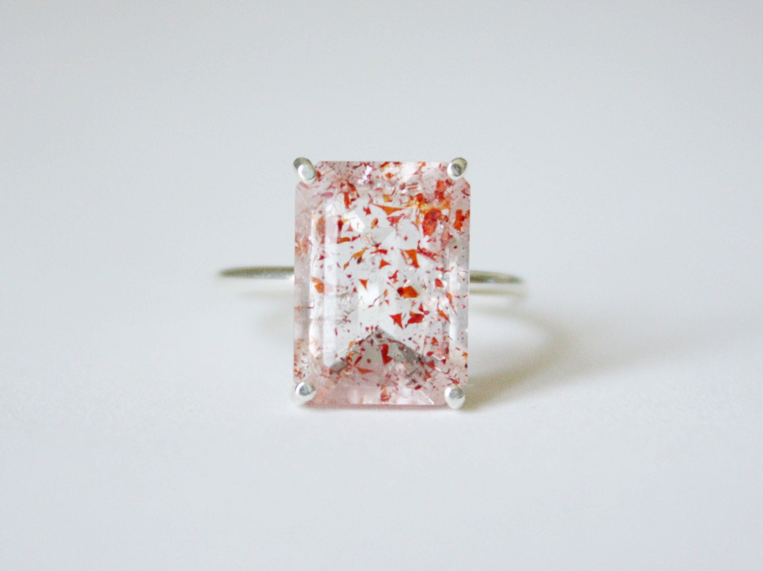 quartz pin rings white in rose jewellery minawala diamonds ring gold