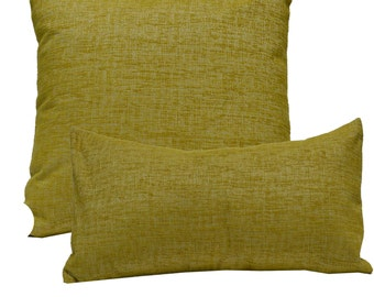 Decorative Pillow Cover Solid Chenille Yellow