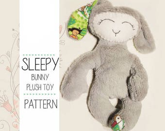 Cute Rabbit baby gift Sewing Pattern with instructions, PDF