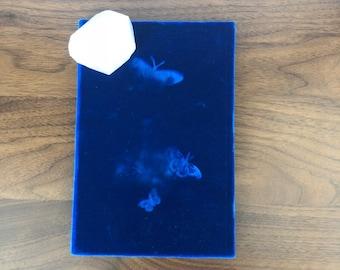 Vintage Royal Blue Velvet Journal