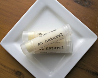 Natural Unflavored Lip Balm Vegan .15oz Organic, Unscented, Plain Lip Balm