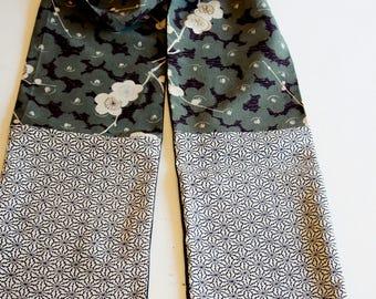 Japanese silk kimono scarf | Hand made from vintage kimono fabrics**S120**