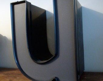 U - Reclaimed metal letter