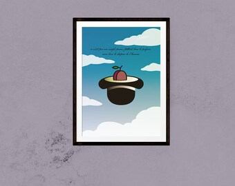 The Treachery of a Barber - A Single Plum, Floating in Perfume, Served in a Man's Hat - Pop Art Print