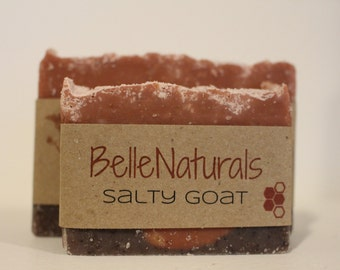 Salty Goat - Himalayan Pink Sea Salt, Raw Goat's Milk, Rose Kaolin Clay, Detox, Nourish, Sage