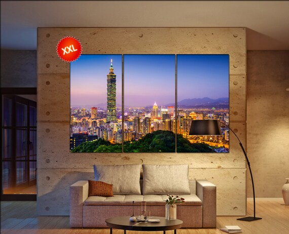 Taipei  canvas wall art Taipei wall decoration Taipei canvas wall art art Taipei large canvas wall art  wall decor