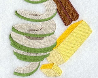 Bake A Pie Stack Embroidered Flour Sack Towel, Bake A Pie Towel, Apple Pie Towel, Baking Towel