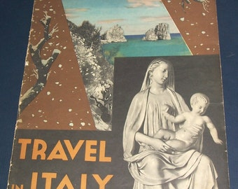1935 Travel In Italy magazine