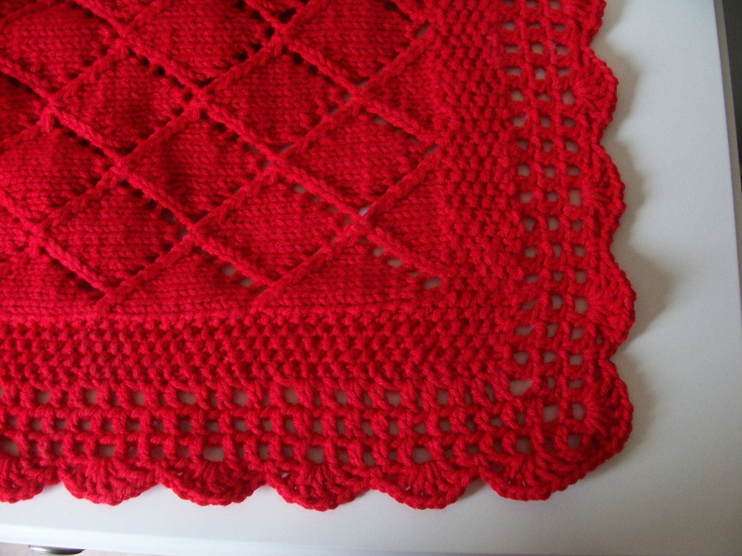 Red Blanket Baby Blanket Red Knit Baby Shower Baby Gift