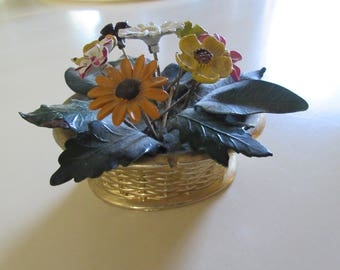 METAL BASKET of FLOWERS