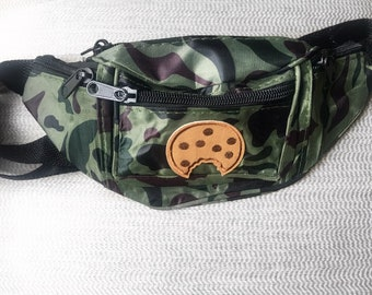 Camo fanny pack chcocolate chip cookie fanny pack festival fanny pack