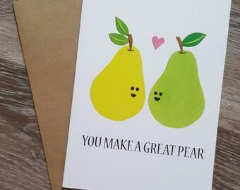 Engagement Card, Engagement, Engagement Party, Engagement Gifts, Engagement Wishes, Engagement Parties, Pun Card, Food Pun, Wedding Shower