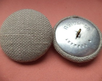 Fabric coat buttons jacket buttons buttons 4 PONYTAIL beige 33 mm (540)