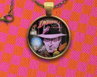 Indiana Jones and the Last Crusade Comic Cover Pin, Magnet, Keychain, or Necklace