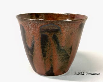 Cup porcelain Brown (large)
