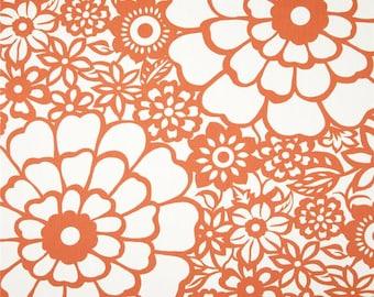 Two  26  x 26   Custom  Pillow Covers -  Duralee Thomas Paul Seedlings Fiesta - Orange