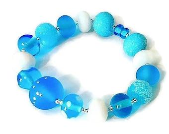 Bracelet unique Lampwork Glass Beads