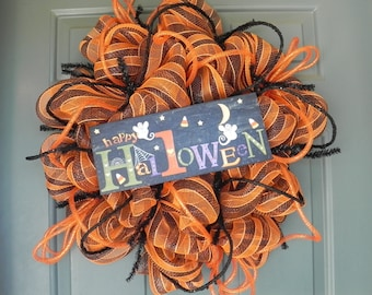 Halloween Wreath Deco Mesh - READY TO SHIP!!!!