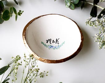 Unique Wedding Gift / Personalized Jewelry Dish / Ring Dish / Bridesmaids Gift / Wedding Gift / Anniversary Gift / Gift for Her
