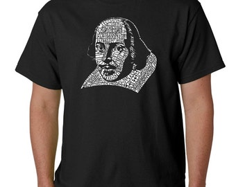 Men's T-shirt - Created using The titles of all of William Shakespeare's Comedies & Tragedies