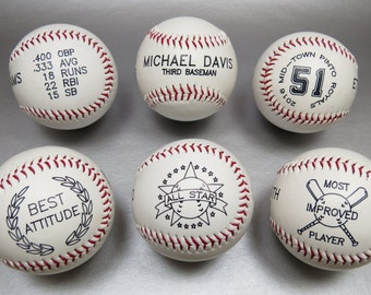 12 Custom Baseballs - TEAM DISCOUNT