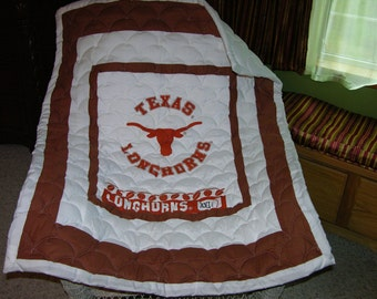 New Baby Quilt m/w Texas Longhorns