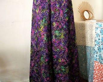 SALE** Elegant Vintage 1970s brocade maxi skirt floor length **SALE