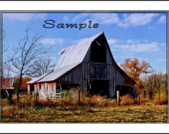 The Pointed Barn, Fine Art Photo Card