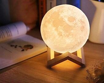 Moon Night Light   Moon Lamp Gift   3D Moon Lamp   Lunar Lamp   Modern Desk Lamp   Astrology   Luna Lamp   Gift for her / him