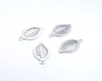 BR699 - Set of 4 charms in silver foil