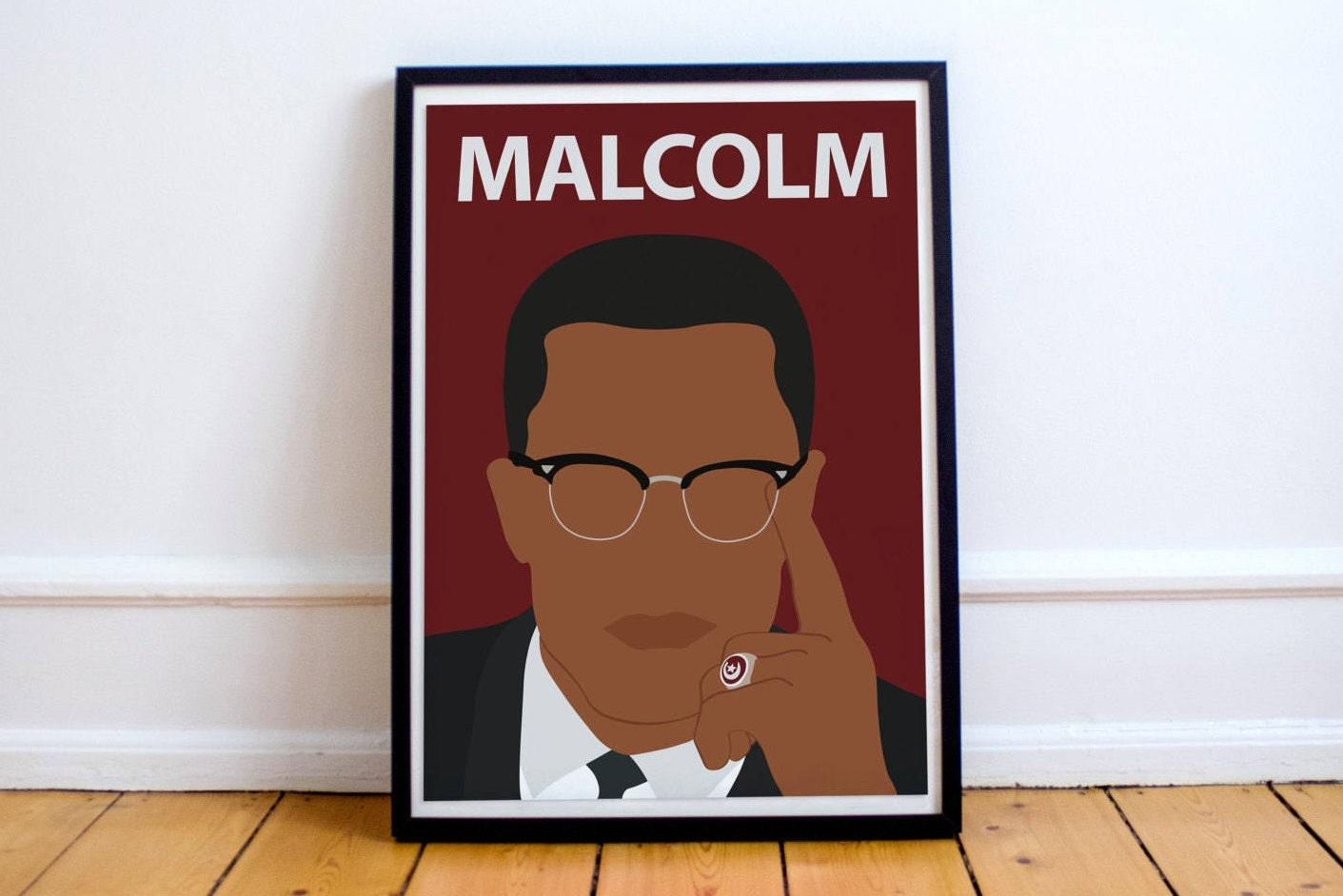 Minimalist Classroom Uk ~ Malcolm poster minimalist print inspirational art