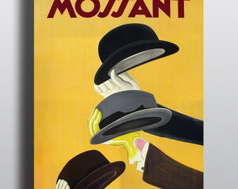Mossant, Hats - Vintage French Advertising Poster Print