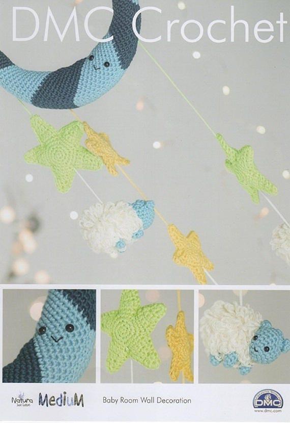 Habitación pared decoración DMC Amigurumi Crochet patrón de bebé ...